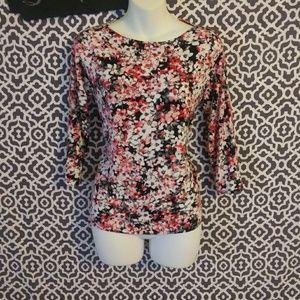 J.Jill Wearever Collection Floral Blouse Size SM